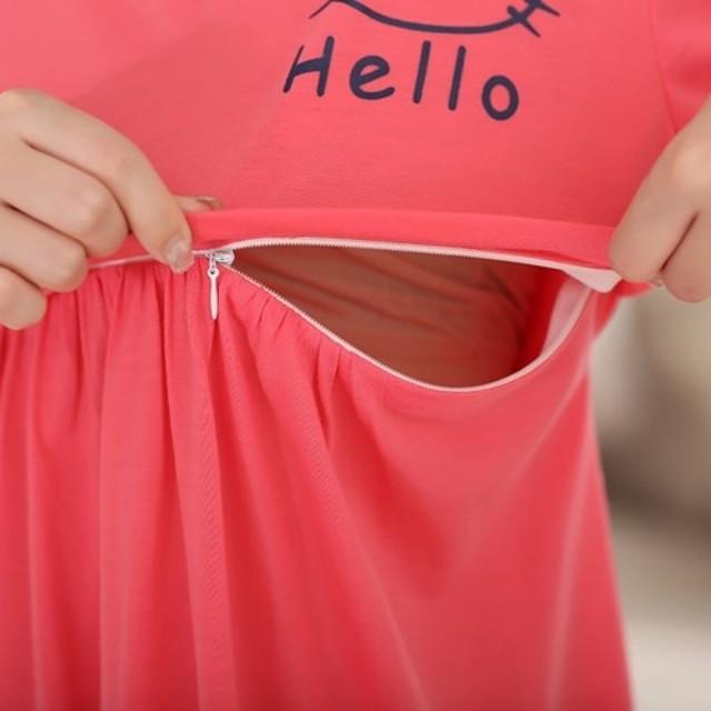 Váy bầu kết hợp cho con bú Hello