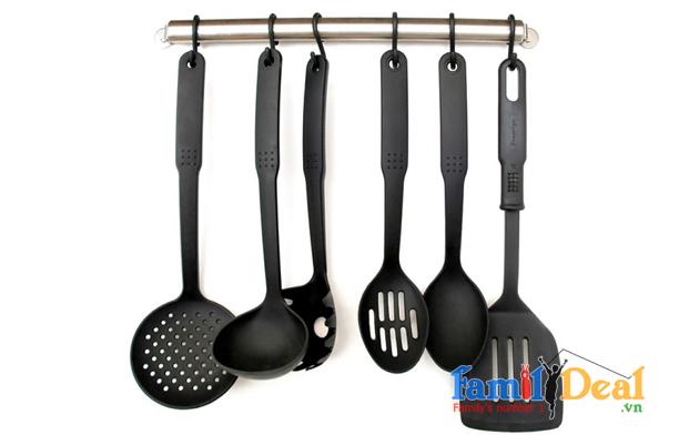 Bộ Vá muỗng làm bếp 6 món &  dụng cụ đập thịt