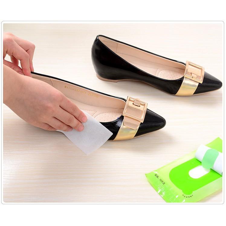 Set 5 gói Khăn lau giày sáng bóng không cần xi
