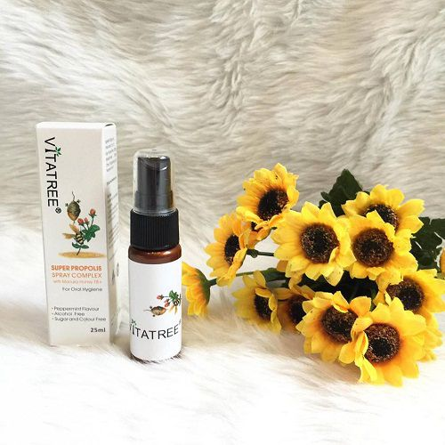 Chai xịt ho Vitatree Super Propolis Spray Manuka Honey
